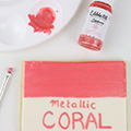 Sweet Sticks Edible Art Paint METALLIC CORAL 15ml