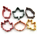 Mini Autumn Cookie Cutter Set 6pcs