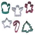 Mini Christmas Resin Cookie Cutters 6pcs