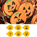 Mini Halloween Pumpkin Faces Stencils 6pcs