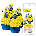 Minions Edible Wafer Cupcake Toppers 16pcs