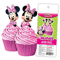 Minnie Mouse Edible Wafer Cupcake Toppers 16pcs