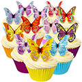 Mixed Edible Wafer Butterflies 12pcs