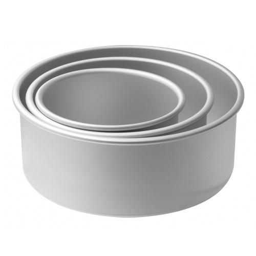 Mondo Round 4 Inch Deep Cake Pan Set 6 8 10 Inch Wide
