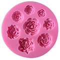 Multi Size Roses Silicone Mould