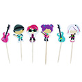Music Paper Cupcake Picks 24pcs
