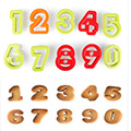 Assorted Number Cookie Cutters 10pcs