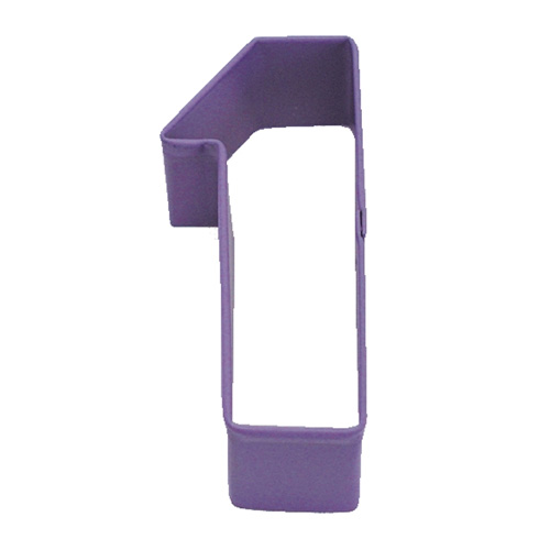 Number One 1 Purple Cookie Cutter