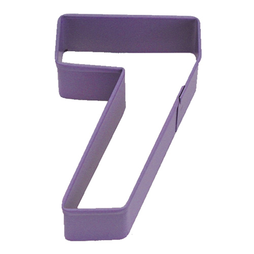 Number Seven 7 Purple Cookie Cutter