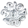 Numbers Stainless Steel Cookie Cutter Set 9pcs