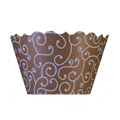Olivia Swirl Blue/Chocolate Cupcake Wrappers 12pcs