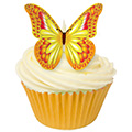 Orange, Yellow & Red Edible Wafer Butterflies 12pcs
