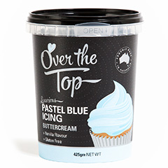 Over The Top Buttercream Icing Pastel Blue