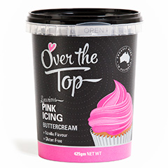 Over The Top Buttercream Icing Pink
