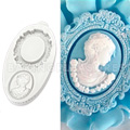 Katy Sue Oval Cameo & Frame 1 Silicone Mould