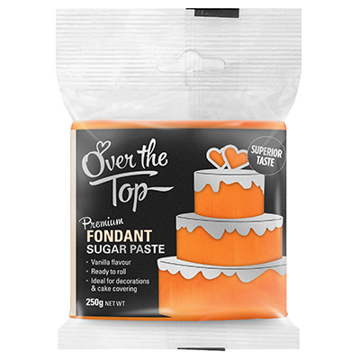 Over The Top Fondant Sunset Orange 250g
