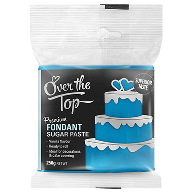 Over The Top Ice Blue Fondant 250g