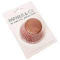 Papyrus Standard Rose Gold Foil Baking Cups 50pcs (50mm Base)
