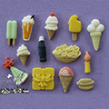 Alphabet Moulds Party Time Silicone Mould