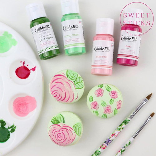 Sweet Sticks Edible Art Paint PASTEL GREEN 15ml