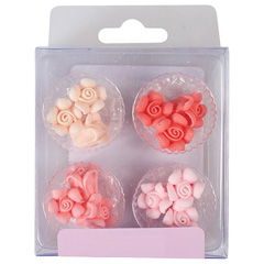 Pastel Mini Roses Cupcake Toppers