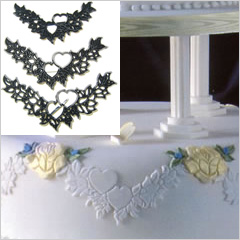 Patchwork Cutters/Embossers Heart Garland Set