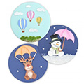 Patchwork Cutters Hot Air Balloons, Umbrella & Parachute
