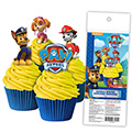 Paw Patrol Edible Wafer Cupcake Toppers 16pcs