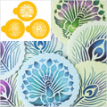 Peacock Cookie Stencils 3pcs