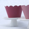 Pink Dark Cupcake Wrapper 12pcs