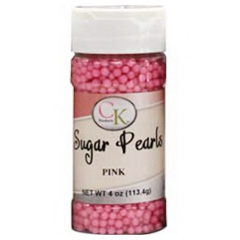 Pink Edible Pearls 4mm