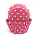 Pink Polka Dot Mini Baking Cups 65pcs