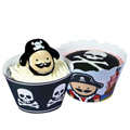 Pirate Cupcake Wrappers 12pcs