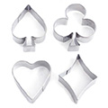 Small Poker Cookie Cutter Set 4pcs