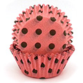 Polka Dot Dark Brown on Pink Baking Cups 32pcs
