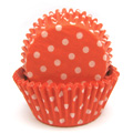 Polka Dot Orange Baking Cups 32pcs