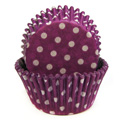 Polka Dot Purple Baking Cups 32pcs