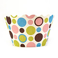 Polkadots Brown/Green/Blue/Pink Cupcake Wrappers 12pcs