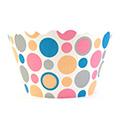 Polkadots Pink/Peach/Blue/Grey Cupcake Wrappers 12pcs