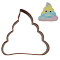 Poop Emoji Brown Cookie Cutter