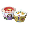 Princess Cupcake Wrappers 12pcs