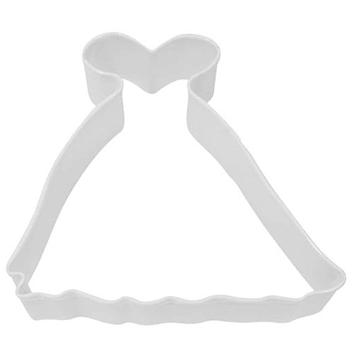 Princess Gown White Cookie Cutter