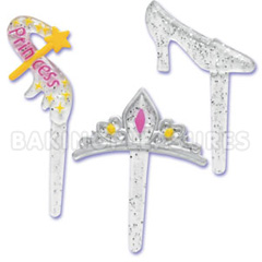 Princess Jewel Cupcake Picks