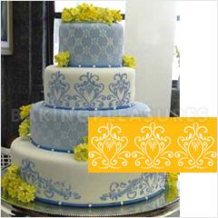 Princess Lace Cake Stencil 1