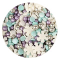 Purple Cupcakes Christmas Snowstorm Mix Sprinkles 100g
