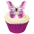 Purple & Pink Edible Wafer Butterflies 12pcs