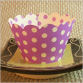 Purple Polka Dot Cupcake Wrappers 12pcs