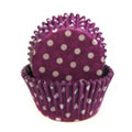 Purple Polka Dot Mini Baking Cups 65pcs