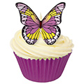 Purple & Yellow Edible Wafer Butterflies 12pcs