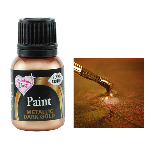 Rainbow Dust Metallic Dark Gold Food Paint